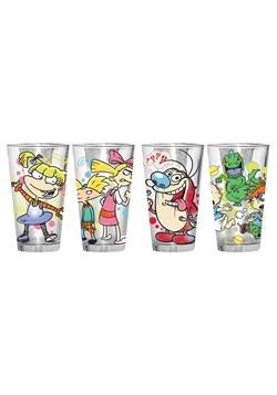 Nickelodeon 4pc 15oz Pub Clear Glass Set