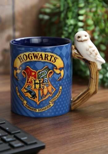 20oz Hogwarts House Patterns Ceramic Mug with Sculpture