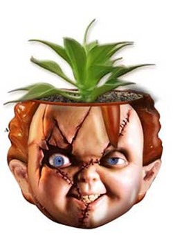 CHUCKY FACE LARGE CERAMIC PLANTER