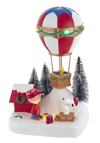 Peanuts Animated Musical Hot Air Balloon Tablepiece