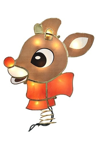 Lighted Rudolph Tree Topper w Lights