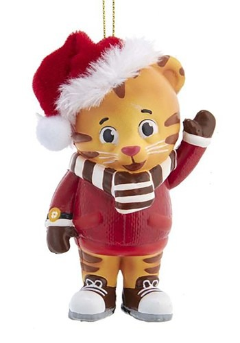 Daniel Tiger w/ Santa Hat Ornament