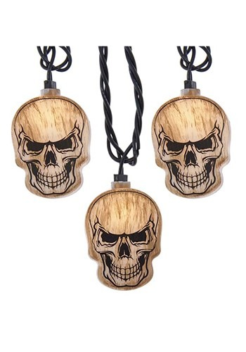 Skull Head 10 Light String Light Set