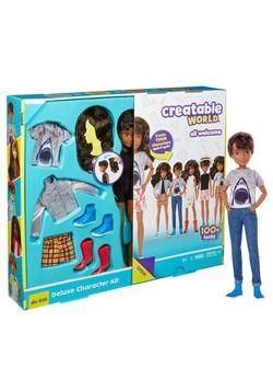 Creatable World Deluxe Character Kit Customizable Brunette D