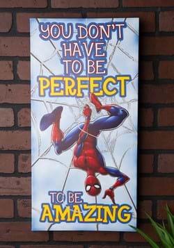 "Spider-Man 12"" x 24"" x 1.5"" 'Be Amazing' Inspirati"