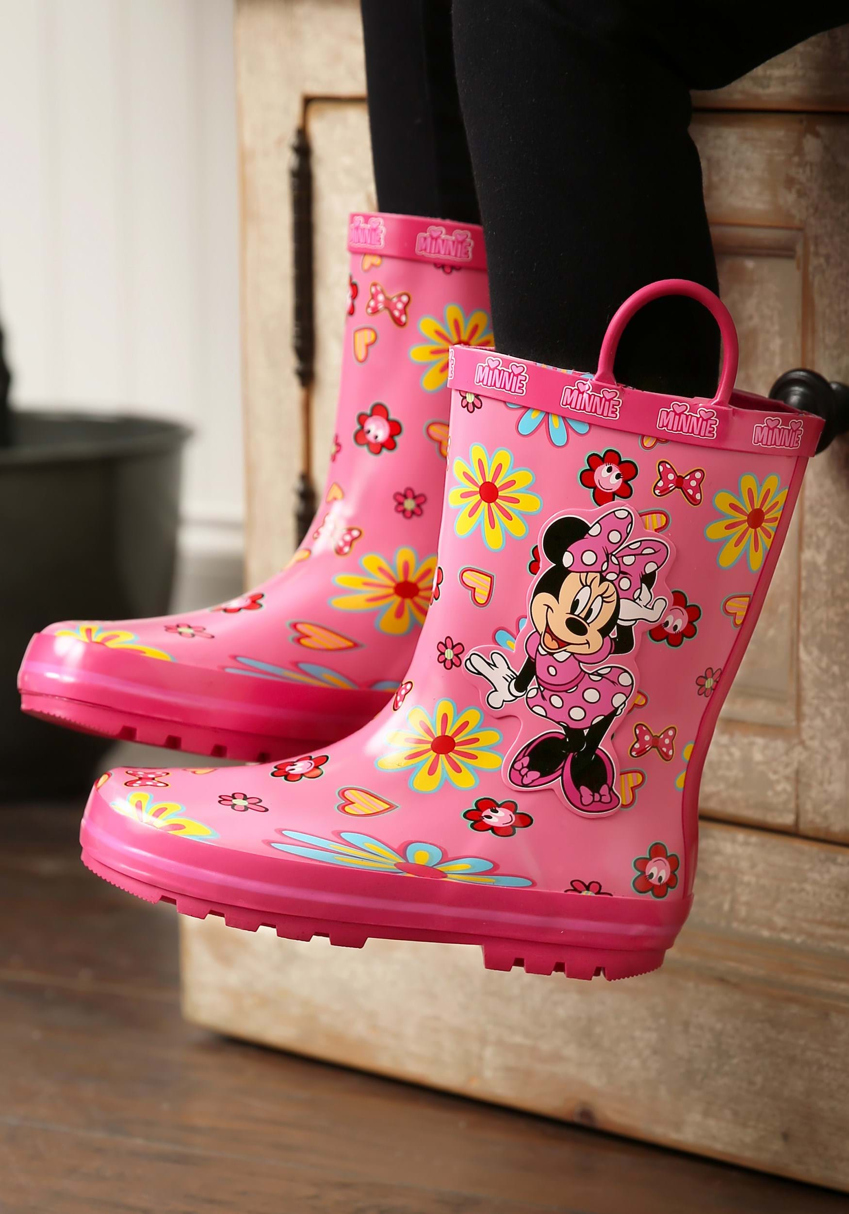 Girls' Minnie Mouse Floral Rainboot