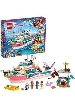 LEGO Friends Rescue Mission Boat Building Set
