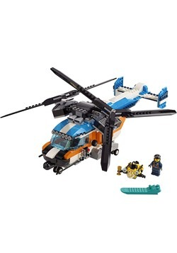 LEGO Creator Twin Rotor Helicopter Building Set Alt 1