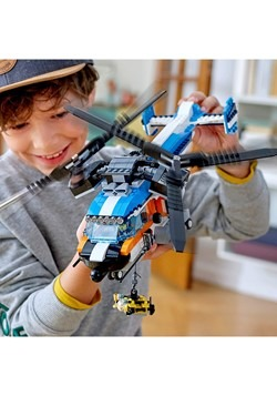 LEGO Creator Twin Rotor Helicopter Building Set Alt 2