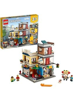 LEGO Creator Townhouse Pet Shop Cafe Building Set