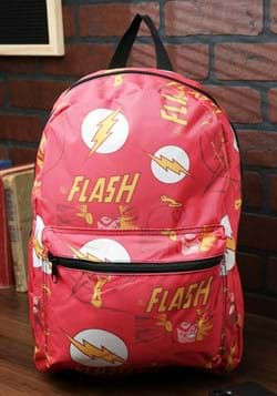 The Flash All-Over Comic Book Print Backpack
