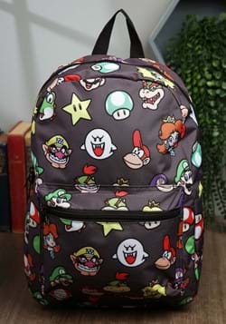 Super Mario Brothers Character Heads Pattern Backpack