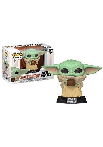 Funko POP Star Wars Mandalorian The Child with Cup Figure