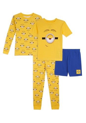 Boys Minions 4 Piece Sleepwear Set