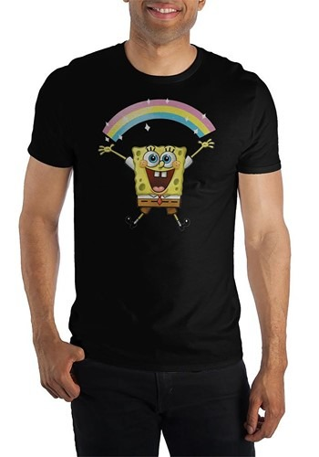 Mens Spongebob Squarepants Rainbow T-Shirt