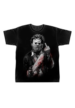 Leatherface Middle Finger Mens Black T-Shirt