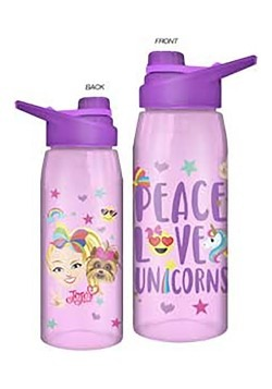 JOJO SIWA EMOJI PEACE LOVE UNICORNS 28oz WATER BOTTLE W SCRE