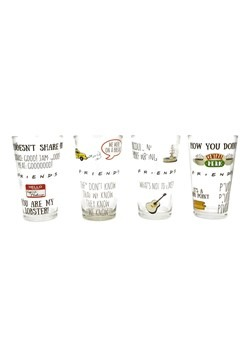 Friends Quotes Pattern 4Piece 16 oz Pub Glass Set