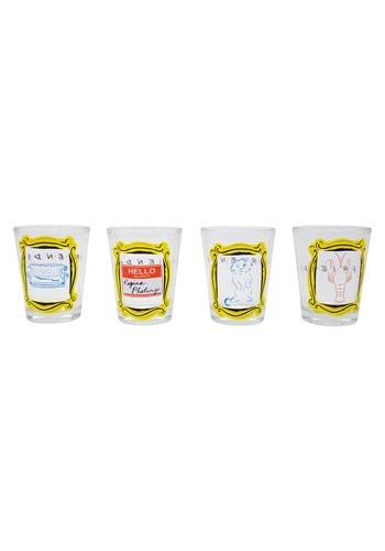 Friends Quotes in Frames 4 Piece Shot Glass Set