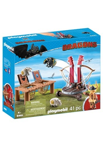 Playmobil How to Train Your Dragon Gobber the Belch with She