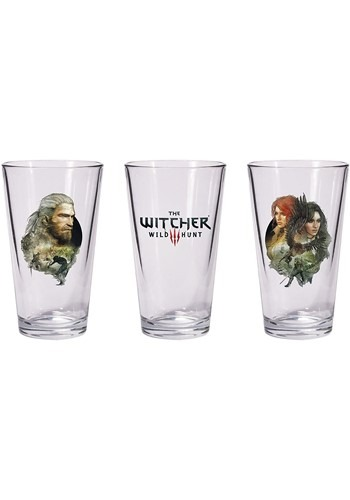 The Witcher Geralt and Triss with Yen Pint Glass Set