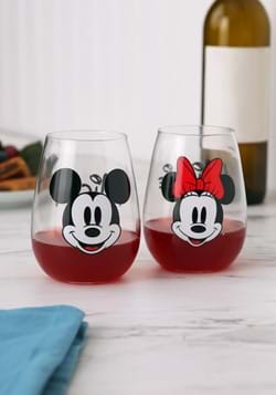 Disney Mickey & Minnie Mouse 18 oz. Contour Glasse