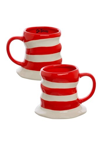 Dr. Seuss Cat In The Hat 16 oz Sculpted Ceramic Mug