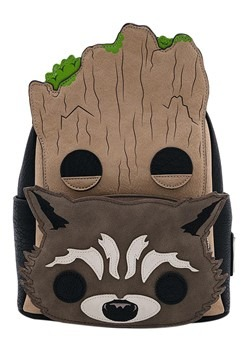 Pop! By Loungefly Marvel Groot and Rocket Mini Bac