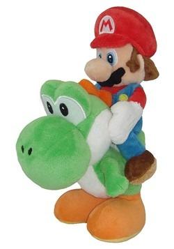 """Mario Riding Yoshi 8"""" Plush"""