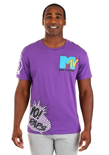 Mens Purple MTV Placement Tee