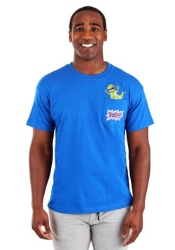 Mens Rugrats Reptar Pocket Tee