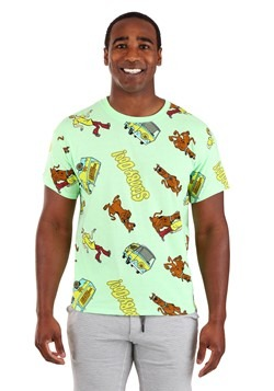 Mens Scooby Doo All Over Print Tee
