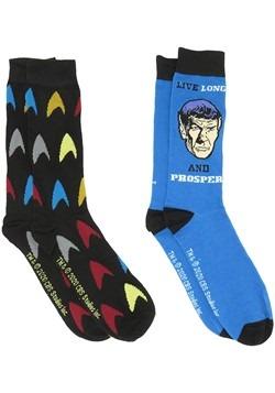 Mens 2 Pack Star Trek Spock Crew Socks