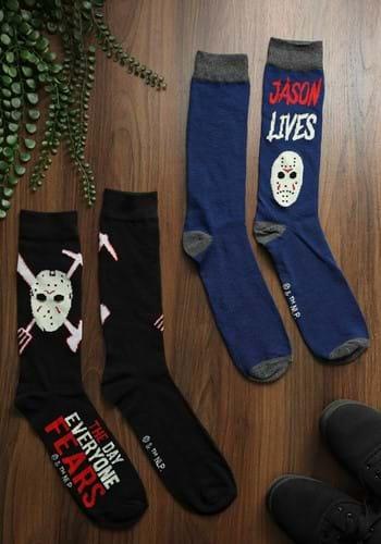 Mens 2 Pack Friday the 13th Jason Crew Socks