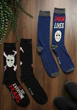 Mens 2 Pack Friday the 13th Jason Crew Socks