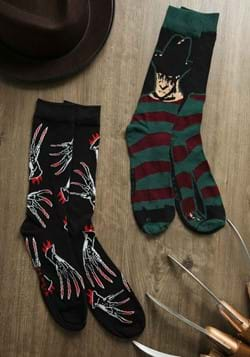 Mens 2 Pack Nightmare Black Freddy Crew Socks