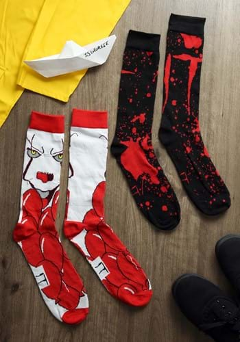 Mens 2 Pack Pennywise IT Crew Socks