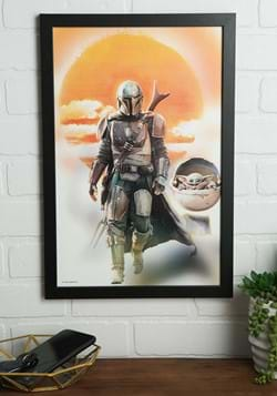 The Mandalorian - Mando & Yoda 11 x 17 Framed Print