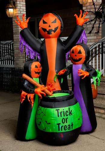 """72""""H Electric Inflatable Witches w/ Cauldron"""