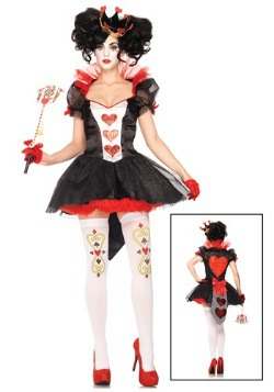 Royal Hearts Queen Costume For Adults