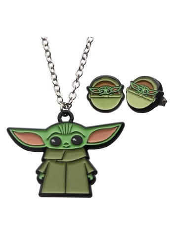 Star Wars The Mandalorian The Child Necklace Earrings Set