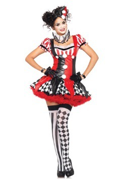 Womens Naughty Harlequin Clown Costume