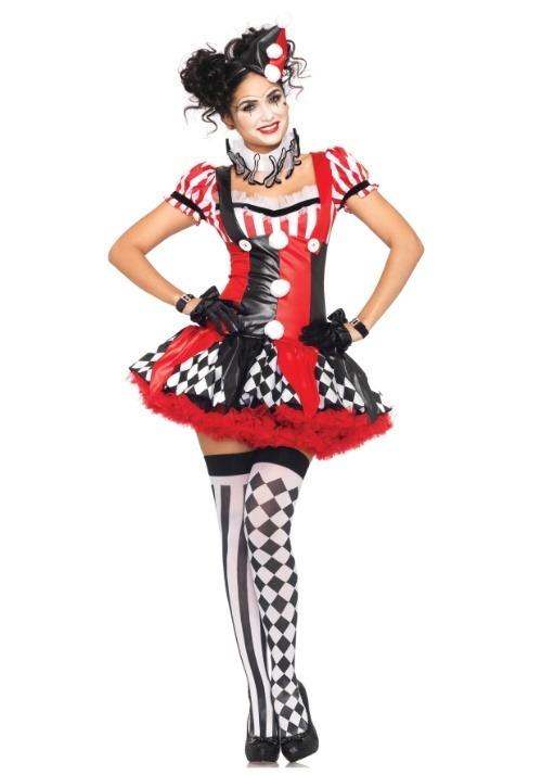 Womens Naughty Harlequin Clown Costume