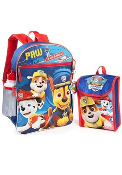 Paw Patrol 5 Piece Backpack Set