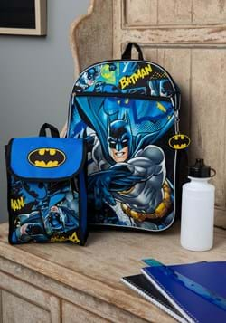 Batman/Batgirl 5 pc Backpack Set
