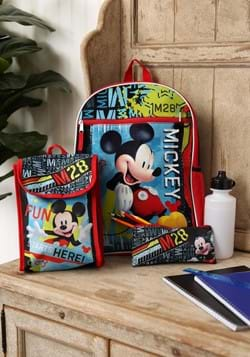 Mickey Mouse 5 Pc Backpack Set-update