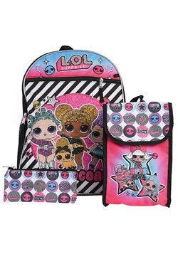 LOL 5 Pc Backpack Set