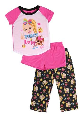 Jojo Siwa Sleepwear Short Sleeve 3 Piece Set