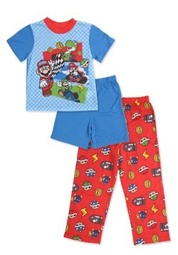 Mario Kart Sleepwear Short 3 Piece Set