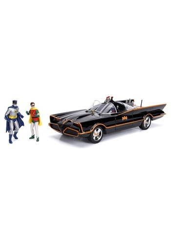 1966 Batmobile 1 18 Die Cast Vehicle with Batman and Robin